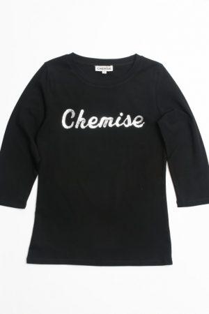 חולצת לוגו - שחור