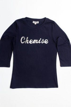 חולצת לוגו - נייבי