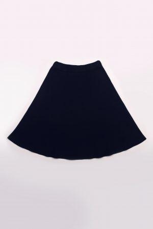 חצאית סריג בייסיק מתרחבת-נייבי