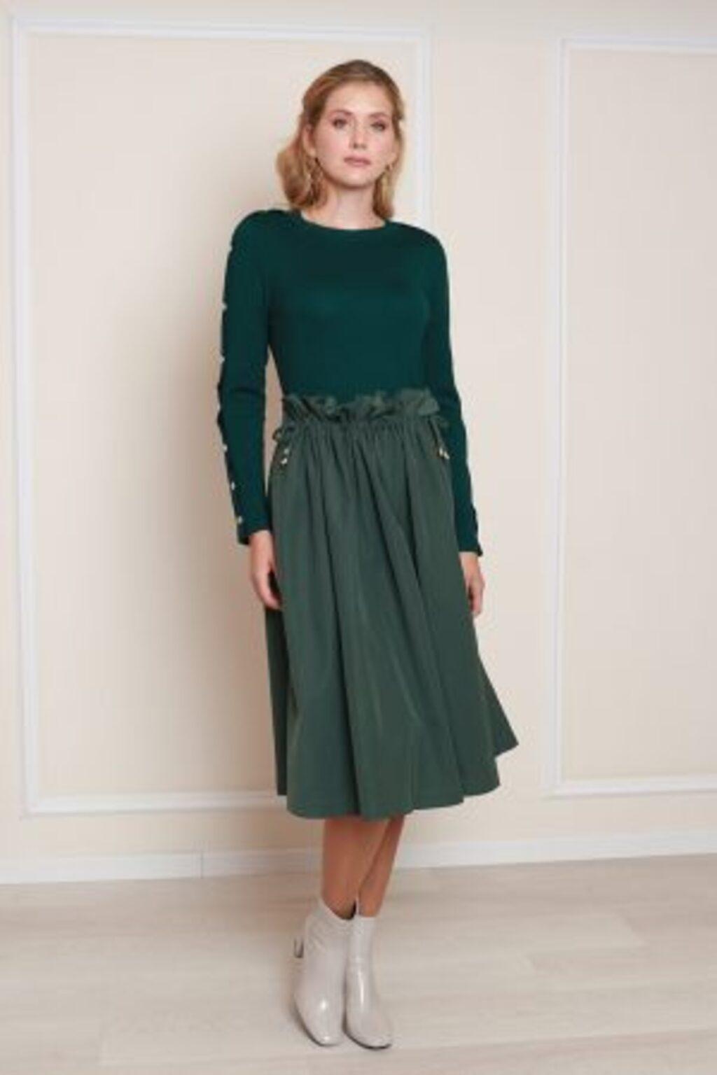 חצאית קשירה - ירוק