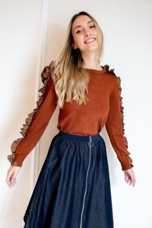 חצאית מתרחבת וריצרץ-ג'ינס