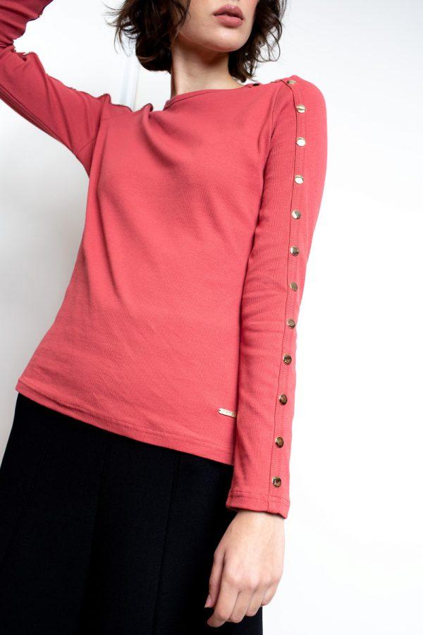 חולצת בייסיק תיקתקים-בריק
