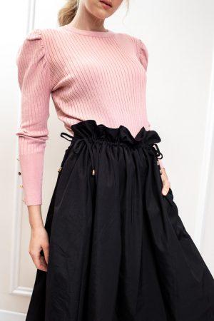 חצאית קשירה - שחור