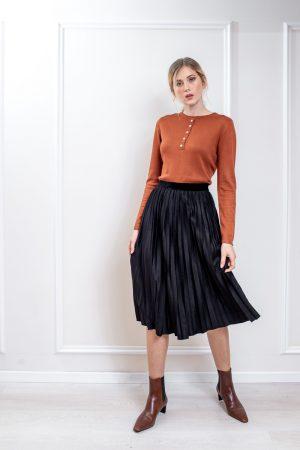 חצאית פליסה סוויט-ארוך