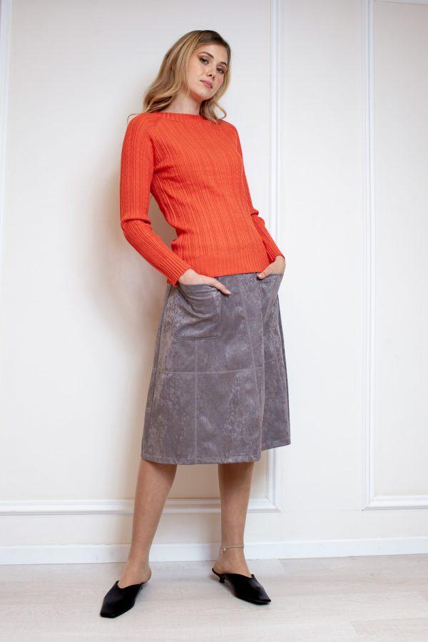 חצאית ג'מס וכיסים-ארוך