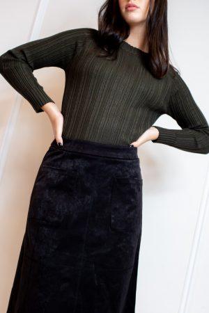 חצאית סוויט חלקים-ארוך