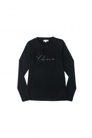 חולצת לוגו שמיז-שחור