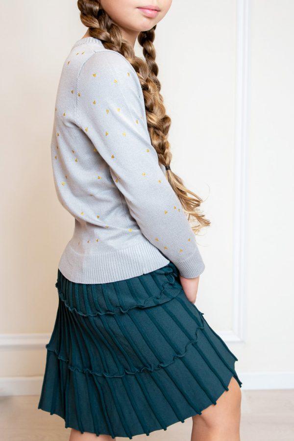 חצאית סריג קומות-טורקיז