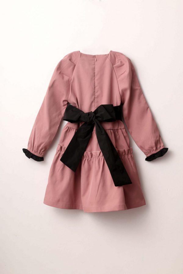 שמלת קומות חלקה-פודרה