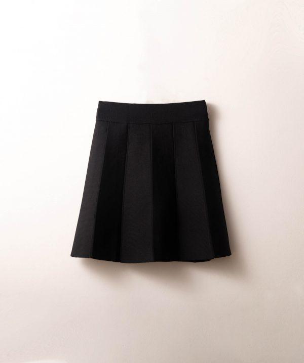 חצאית סריג חלקים שחור