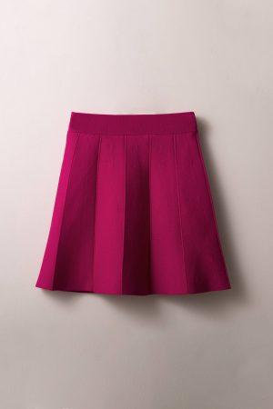 חצאית סריג חלקים פוקסיה
