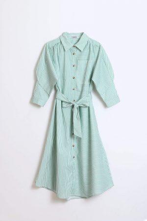 חולצת סריג עם בליטות בשרוול-אפרסק בהיר