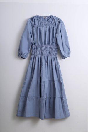 שמלת גומי כיווצים -Teal