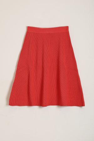 חצאית סריג A-כתום