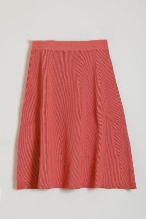 חצאית סריג A-ורוד