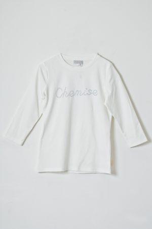 חולצת לוגו שמיז אבנים-לבן
