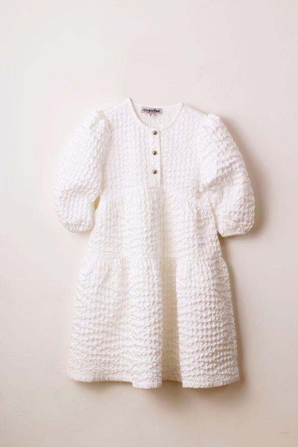 שמלת קומות חג-לבן