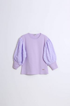 חולצת פרנץ טרי סגול