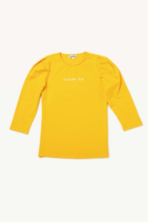 חולצת לוגו דפוס ורוד בייבי