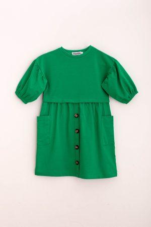שמלת פרנצ'טרי-ירוק