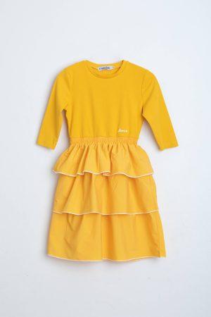 שמלת קומות טאפט -צהוב