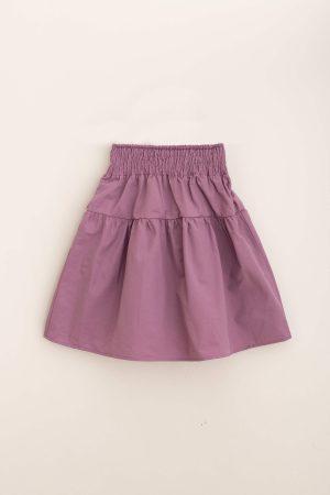 חצאית קומה כותנה-סגול