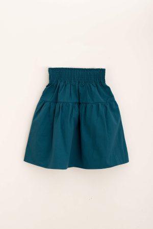 חצאית קומה כותנה-Teal טורקיז