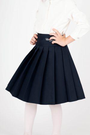 חצאית קפלים לוגו - כחול