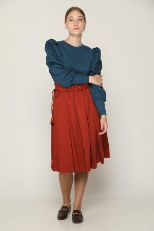 חצאית קפלים - brick