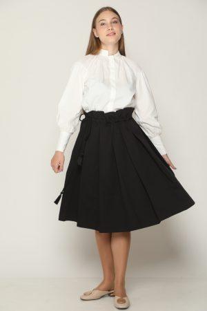 חצאית קפלים - שחור