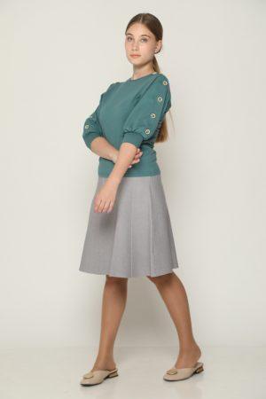 חצאית חלקים - אפור בהיר